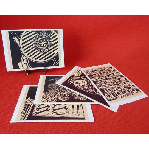 ミカの木版画ポストカード